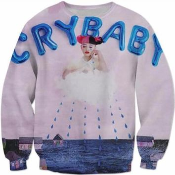 New Fashion Mens/Womens  Melanie Martinez Funny 3D Print Sweatshirt Oversized 5XL Hip Hop Cry Baby Fashion Hoodies