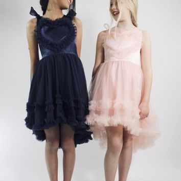 DOLLY by Le Petit Tom ® LOVE DRESS navy