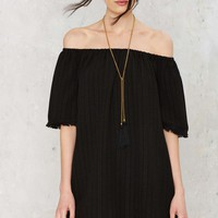 Fray the Course Off-the-Shoulder Dress