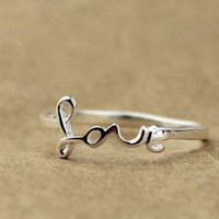 Love Silver Ring