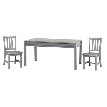 Adjustable Grey Activity Table & 2 Parker Play Chairs