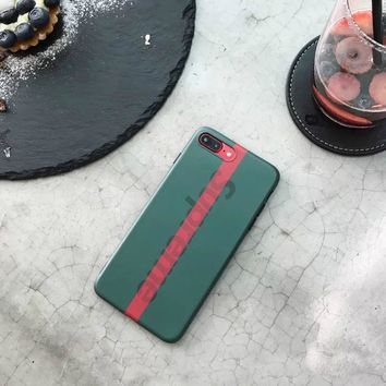 Supreme Stylish Iphone 6/6s Iphone 7 Cute Apple Iphone Matte Soft Phone Case [152644091929]