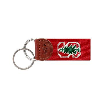 Stanford Needlepoint Key Fob in Red by Smathers & Branson