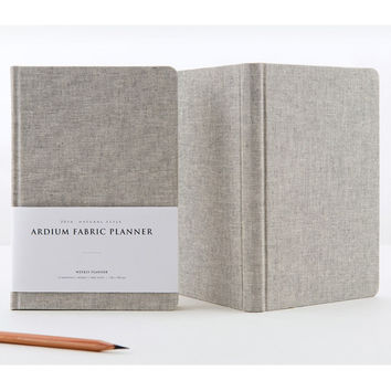 2016 Ardium Linen fabric cover dated planner scheduler