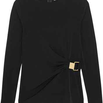 MICHAEL Michael Kors - Gathered stretch-jersey top