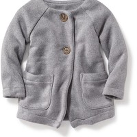 Old Navy Collarless Fleece Coat