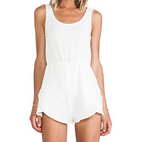 MINKPINK The Seeker Playsuit in White