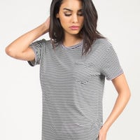 Pencil Striped Tee