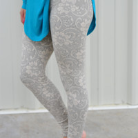 Branching Out Leggings: Ivory Lace | Hope's