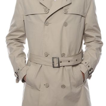 Premium Mens Mayfair Classic Fit Tan Trench Coat