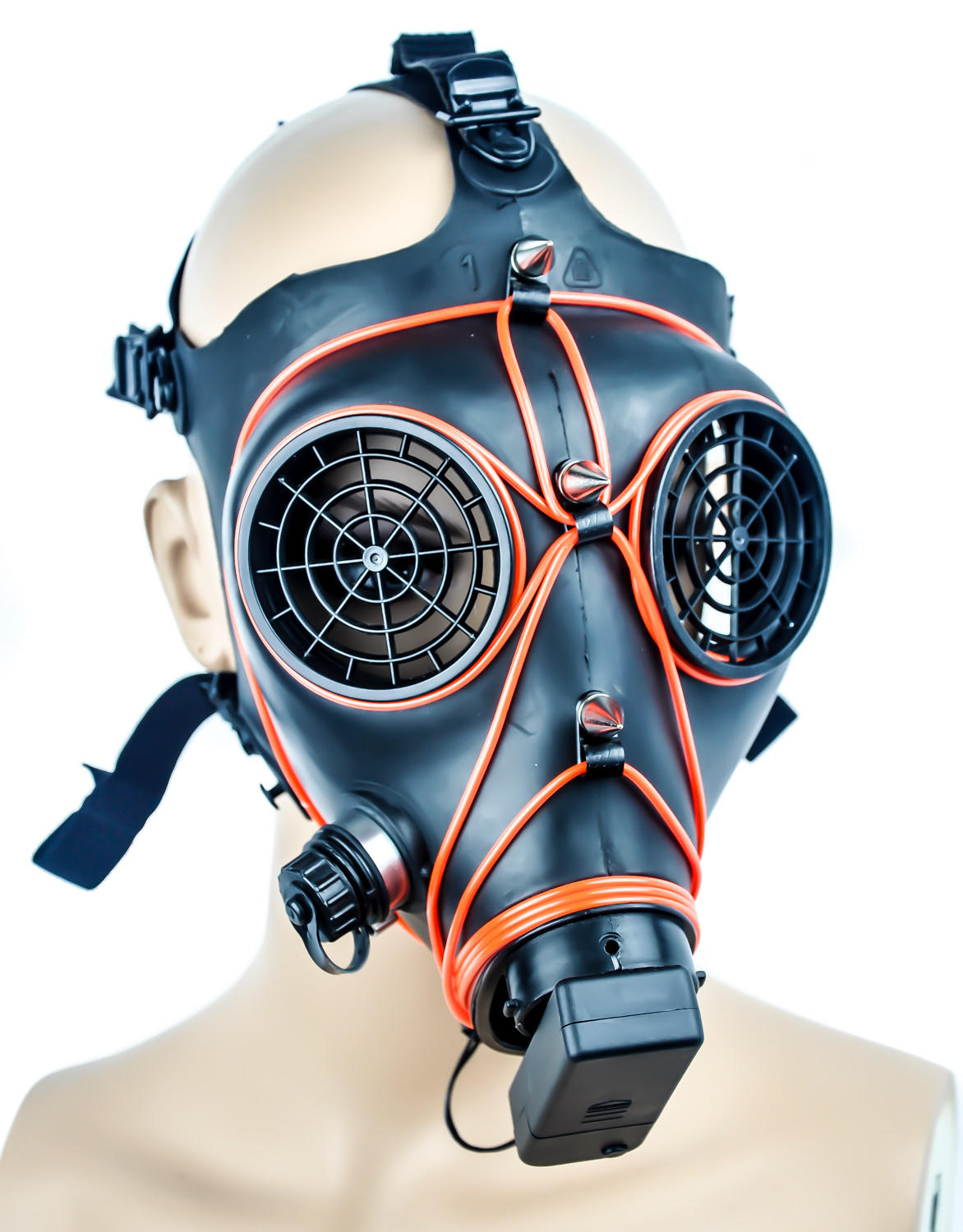 Cyber Punk El Wire Red Glow Gas Mask From Dysfunctional Doll