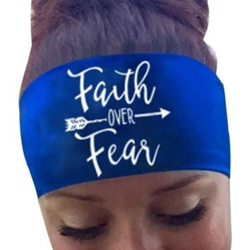 Women Faith Over Fear - Funny Bandana Headband - Headwear