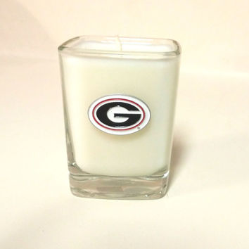Georgia Bulldogs Candle - Soy Shot Glass Candle - CHOICE OF SCENT