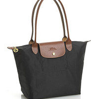 Longchamp Le Pliage Medium Folding Tote, Black