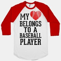 My Heart Belongs To A Baseball Player (Red Heart) | HUMAN