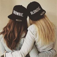 DCCKHY9 BLONDIE BROWNIE Snapback Caps Embroidery Fashion High Quality Women Gifts Baseball Caps Sun Hip Hop Adjustable Street Dance Hats