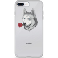 Husky iPhone 7 8 Plus Case | Funny Siberian Dog Cover | The Jazzy Panda