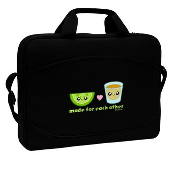 """Cute Tequila Shot and Lime - Made For Each Other 15"""" Dark Laptop / Tablet Case Bag by TooLoud"""