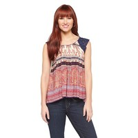 Women's Woven Lace Sleeve Top - inLUV