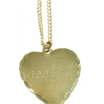 ASSHOLE HEART NECKLACE