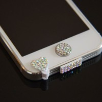 Colorful Bling Luxary Crystal Diamond Anti Dust Dock Charger Port Plug+Ear Plug+Home Button For iPhone 5 5G:Amazon:Cell Phones & Accessories