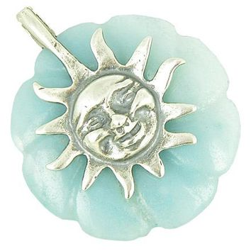 Positive Energy Happy Sun Good Luck Amulet Amazonite Pendant