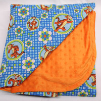 TIGGER Blanket Orange Minky Baby Blanket, Toddler Blanket, Bed Time, Nap Time, Play Time, Cuddle Time
