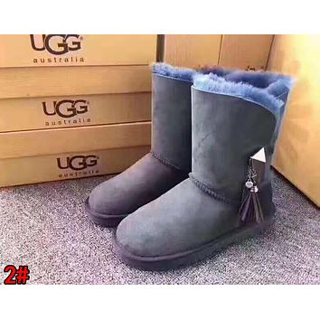 """UGG"" Trending Women Stylish Tassel Wool Snow Boots High Long Boots 2#"