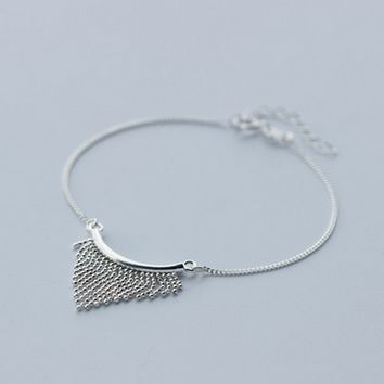 Personality tassel 925 Sterling Silver bracelet , a perfect gift