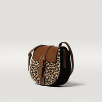 LEOPARD MESSENGER BAG WITH A BUCKLE - Bags and Footwear 30% off - WOMEN - Italy - Massimo Dutti