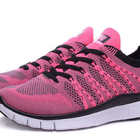 """NIKE"" Women's Trending Fashion Knitting Casual Pink Sports Shoes"