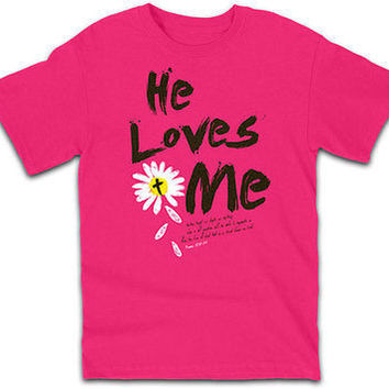 He Loves Me Womens Christian T-Shirts