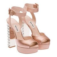 Miu Miu e-store · Shoes · Sandals · Sandals 5XP583_LUJ_F0A48_F_135