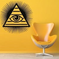 Wall Decal Decor Decals Art Sticker All Seeing Eye Annuit Coeptis Illuminati God Mason Undertakings Favorably (M765)
