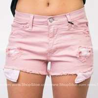 Blush Ripped Shorts
