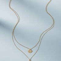 Coin Duo Layered Necklace