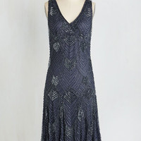 ModCloth Vintage Inspired Sleeveless Shift Enigmatic Essence Dress