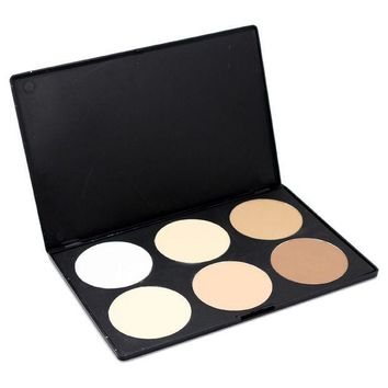 PEAPYV3 2016 high quality Professional Face Powder Contour Palette cosmetic Tools kit Brand New 6 Colors hot