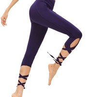 Lace up tie style leggings