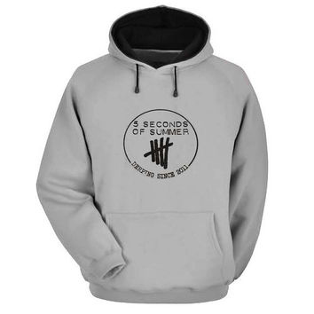 5 second of summer Hoodie Sweatshirt Sweater Shirt Gray and beauty variant color for Unisex size