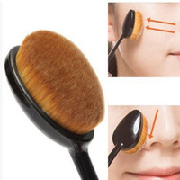 Trendy Oval Makeup Beauty Brush Cosmetic Foundation Cream Powder Blush Makeup Tool Best Gift