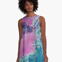 ' Rising To Touch You' A-Line Dress by DimKad
