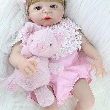 Silicone Baby - Reborn Full Body Doll - Baby Girl Toy Doll