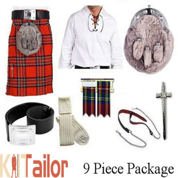 Royal Stewart Tartan Wedding Kilt Outfit Deal Custom Made