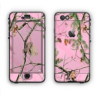 The Pink Real Camouflage Apple iPhone 6 LifeProof Nuud Case Skin Set