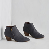 Urban Here, There, and Everywhere Bootie in Navy by Chelsea Crew from ModCloth