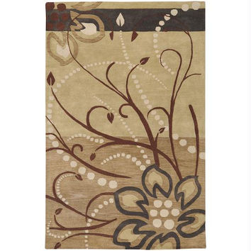 Area Rug - 6' X 9' - Colors Include Golden Brown