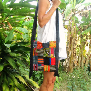 Hmong Patchwork Hilltribe Shoulder Sac Bag Handbag Boho Hippie Festival Indie | eBay