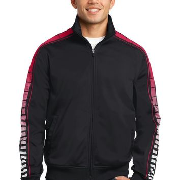 Sport-Tek Dot Sublimation Tricot Track Jacket. JST93