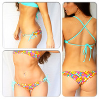 Aztec Brazilian TieSide Surf Bottom by KiniKai on Etsy